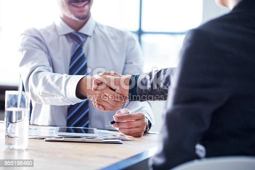 istock Business handshake in the office 855198460
