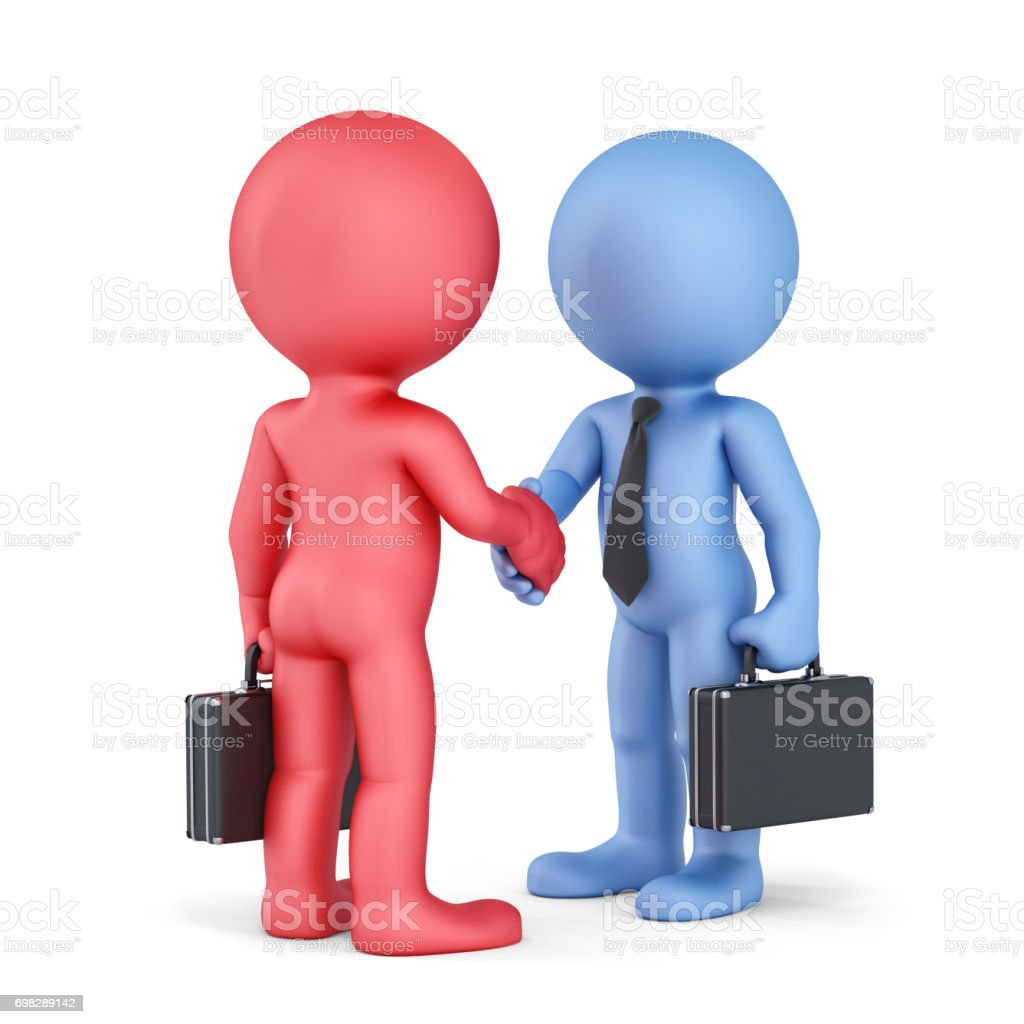Business handshake. Isolated on white background stock photo