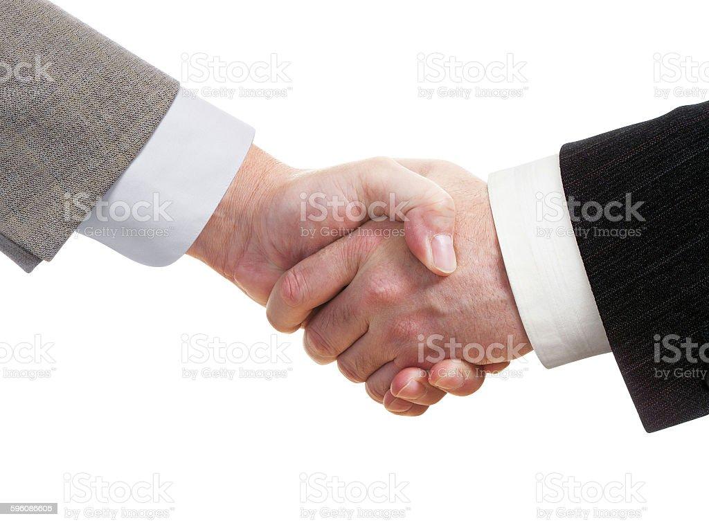 Business handshake Isoliert Lizenzfreies stock-foto