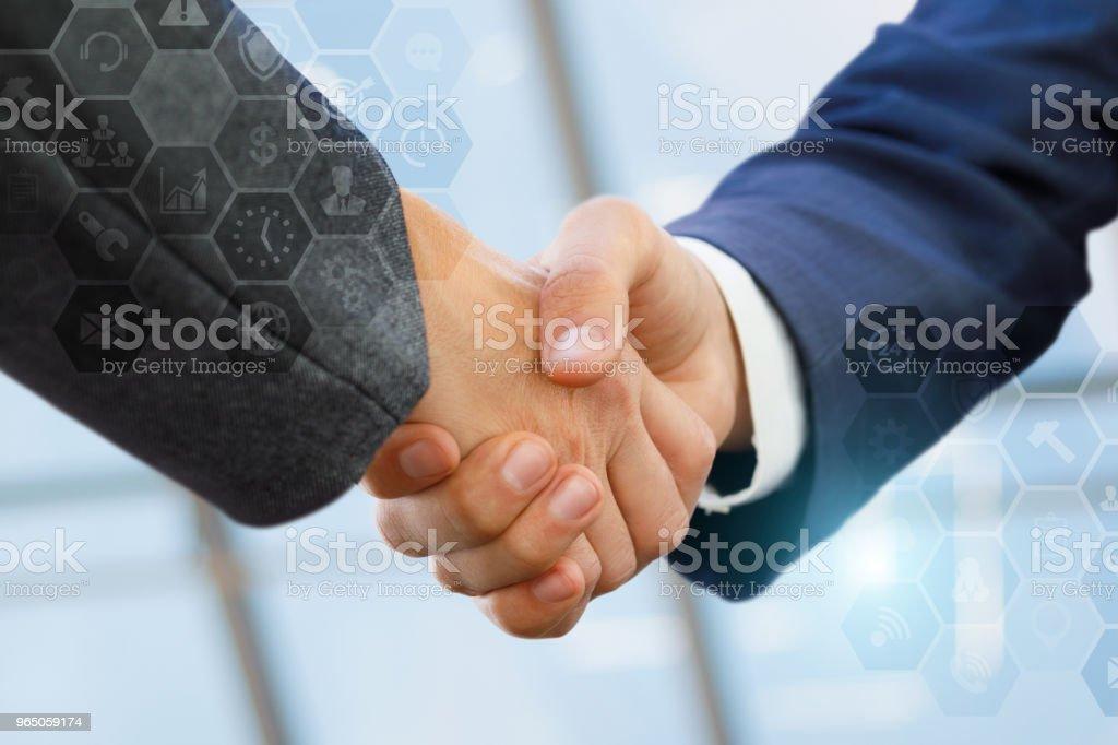 Business handshake of businessmen. royalty-free stock photo