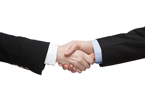 ビジネスシーンでの握手 - 握る ストックフォトと画像
