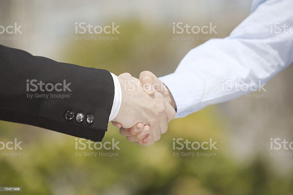 Apretón de manos de negocios foto de stock libre de derechos