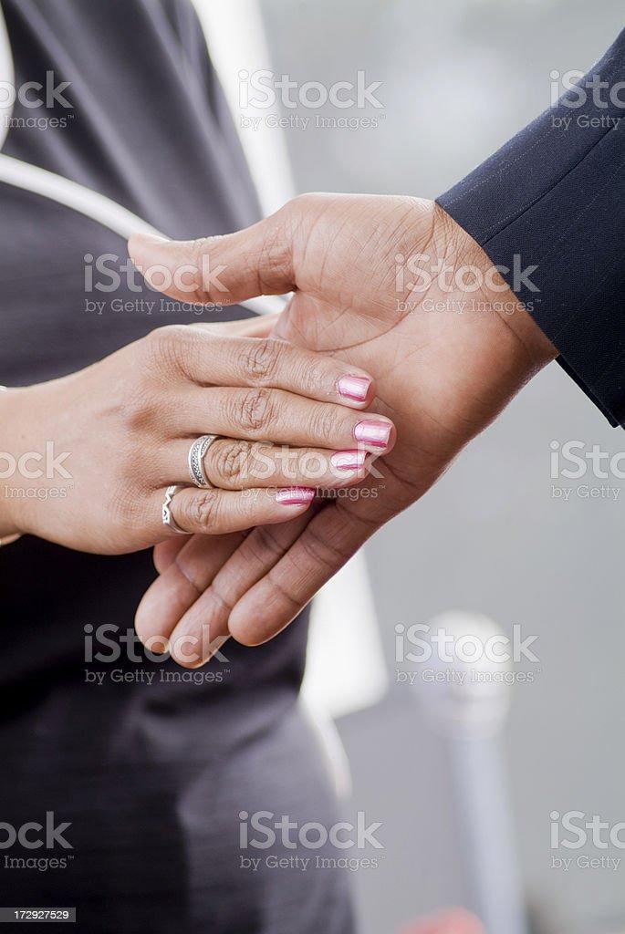 Business Handshake Series royalty-free stock photo