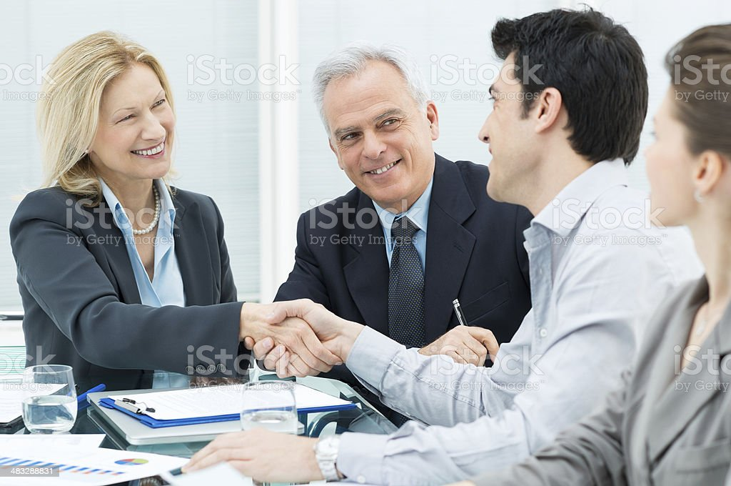 Business Handshake to Seal a Deal royalty-free stock photo