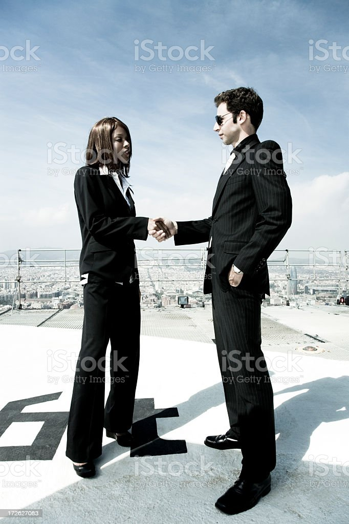 business handshake, welcome to the matrix VII Series royalty-free stock photo