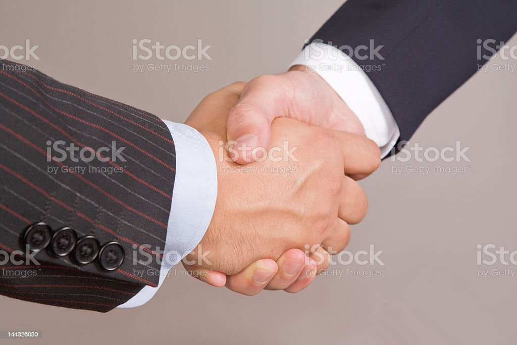 Business Handshake with path royalty-free stock photo