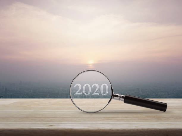 Business happy new year 2020 cover concept stock photo