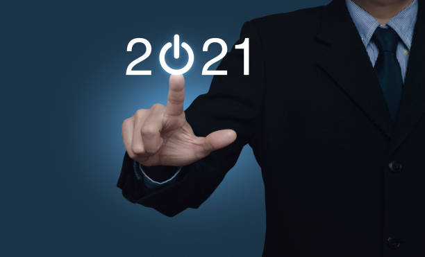 Business happy new year 2021 cover concept stock photo