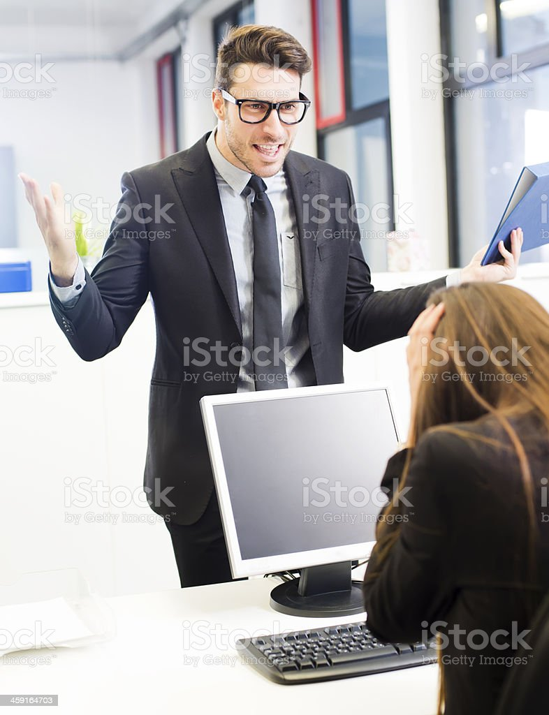 Business harassment royalty-free stock photo