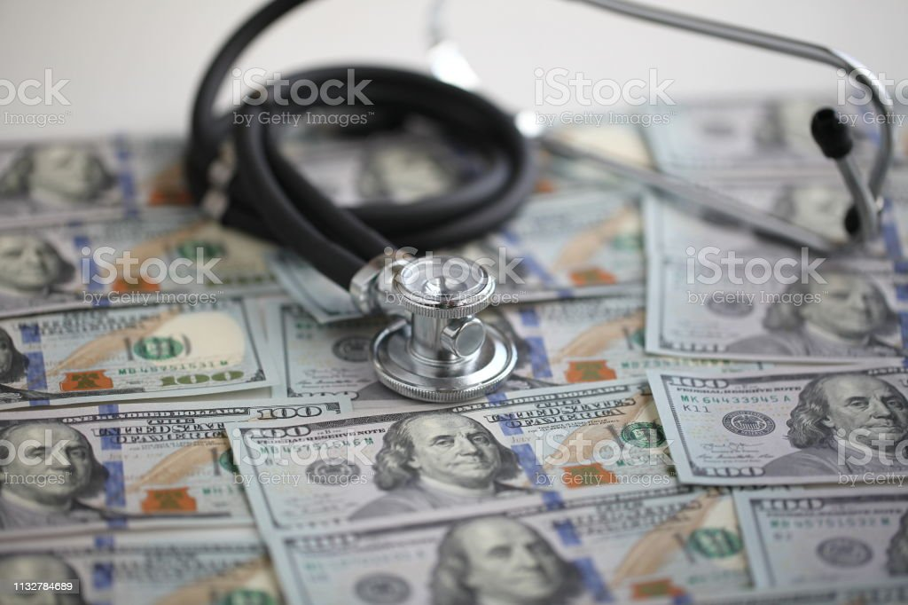 Money and stethoscope business health medicine payment of treatment