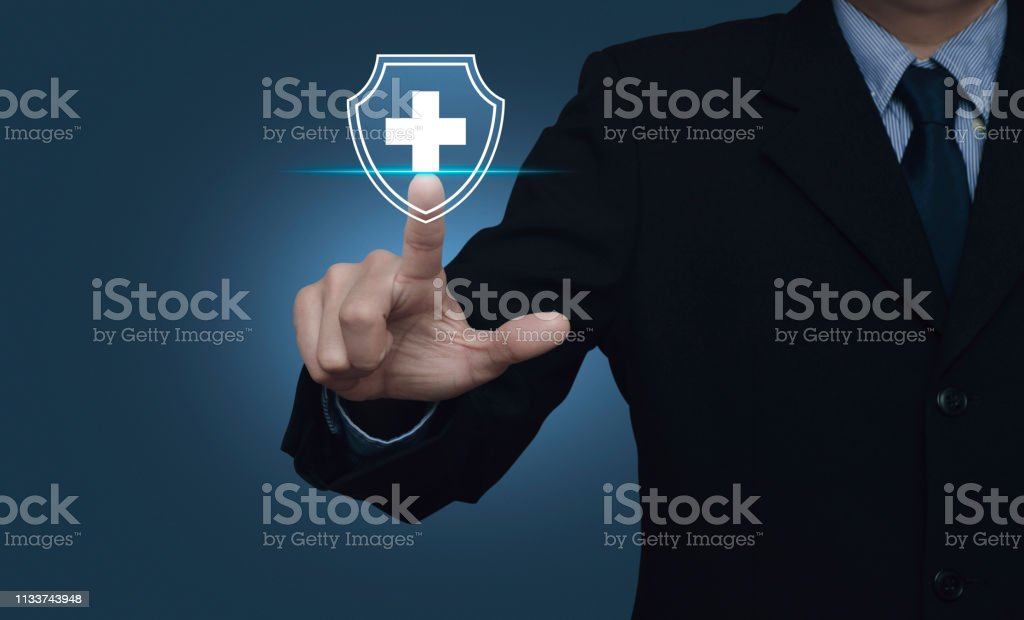 Business healthy and medical care insurance concept stock photo