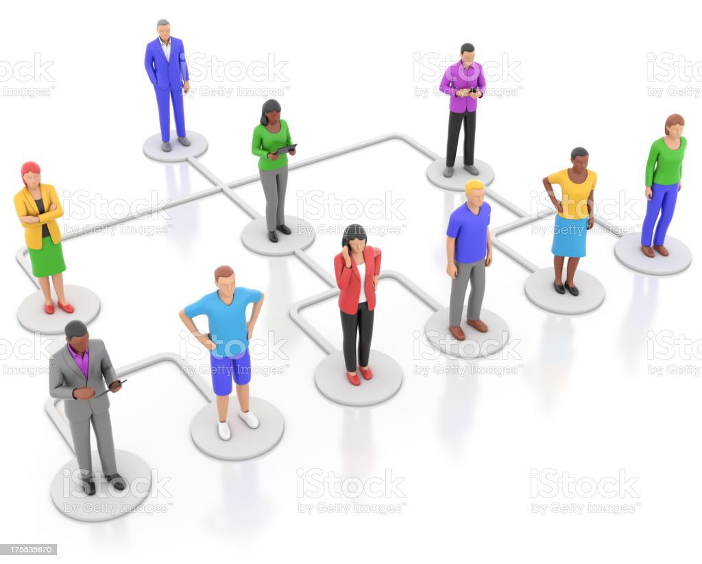 Business hierarchy diagram royalty-free stock photo