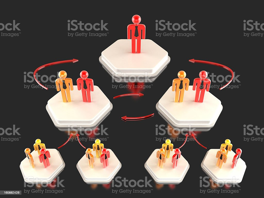 Business hierarchy stock photo