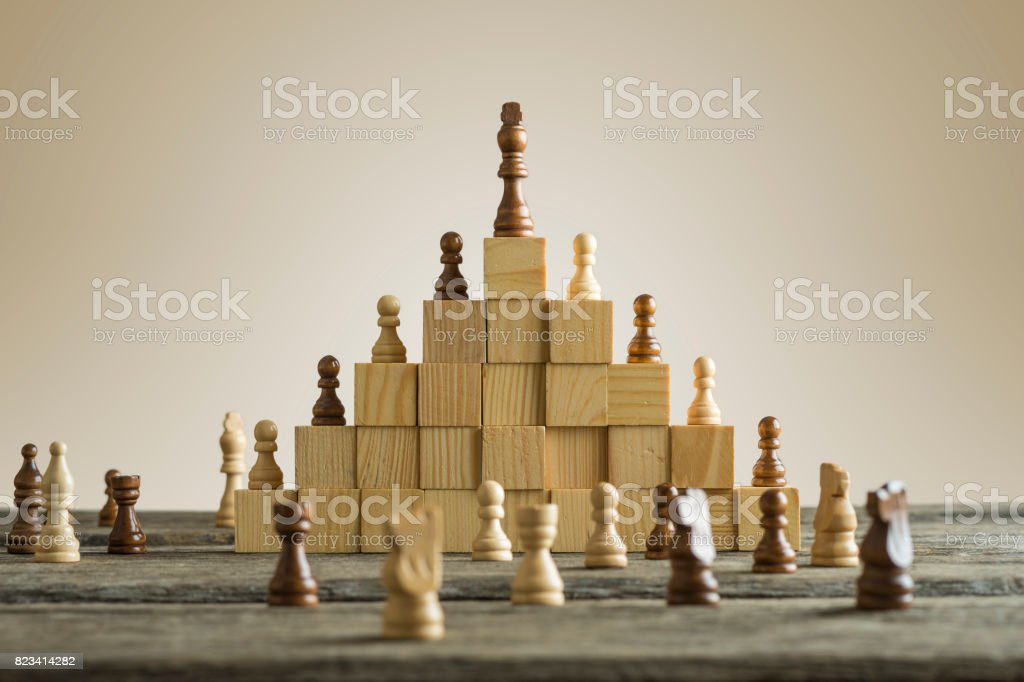 Business hierarchy; ranking and strategy concept stock photo