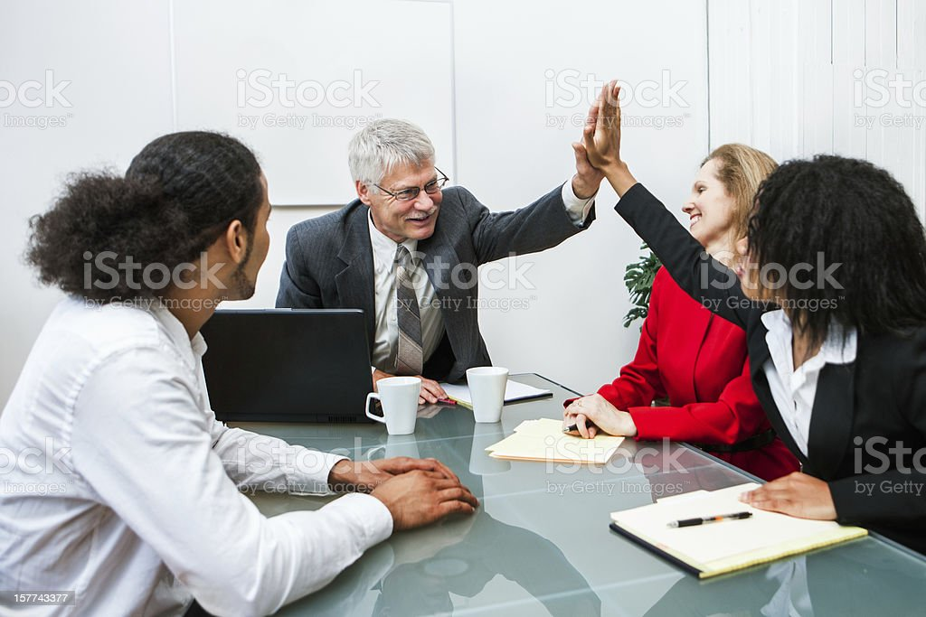 Business High Five royalty-free stock photo