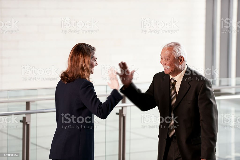 Business High Five stock photo