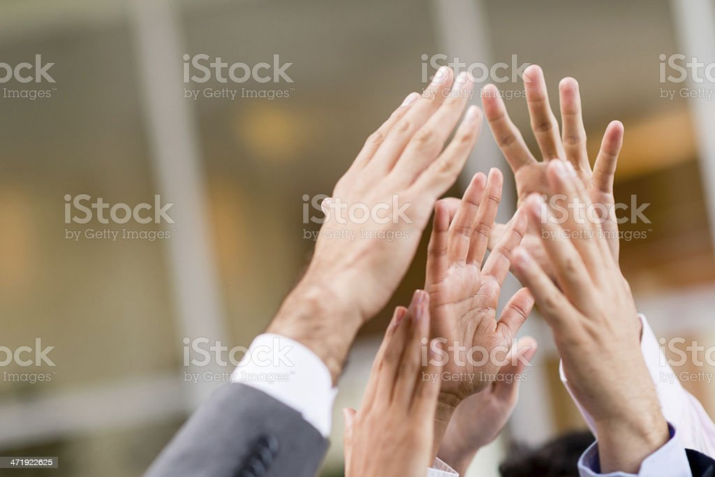 Business high five - teamwork royalty-free stock photo