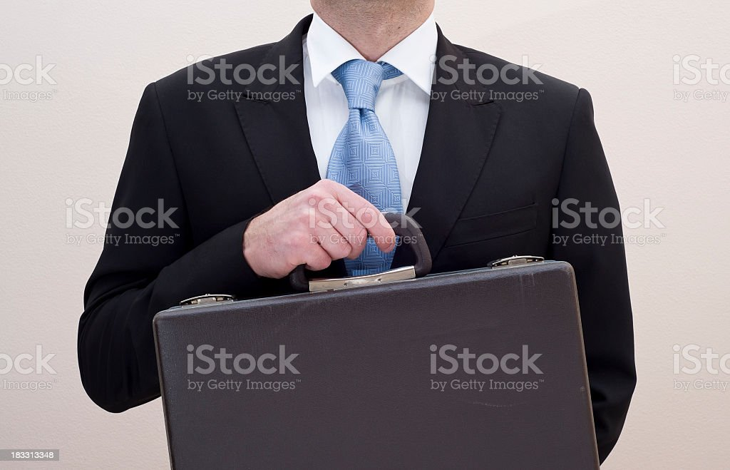 Business Holding His Briefcase In Hand royalty-free stock photo