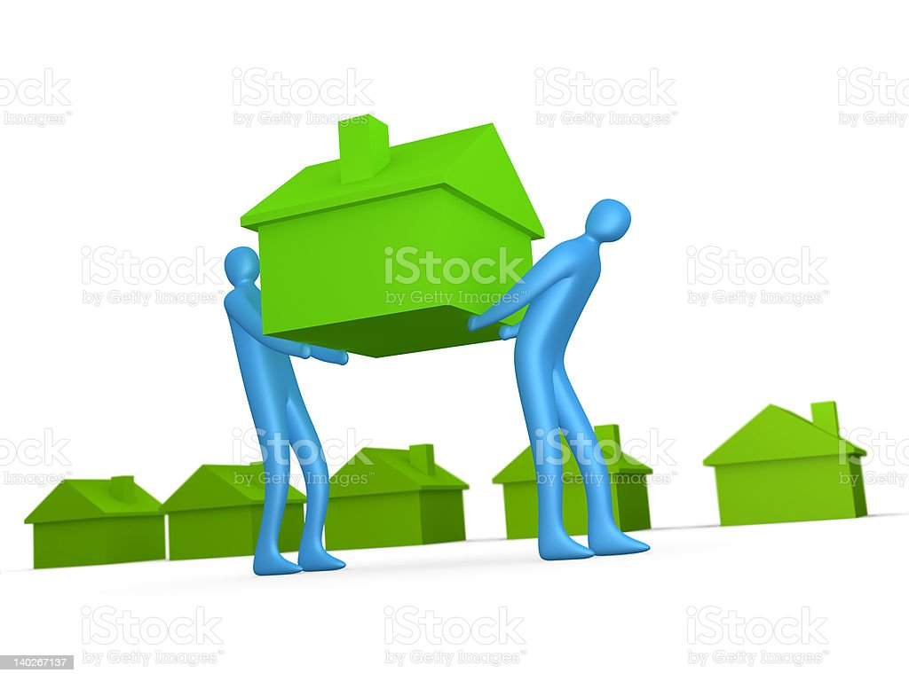 Business - Home Movers royalty-free stock photo