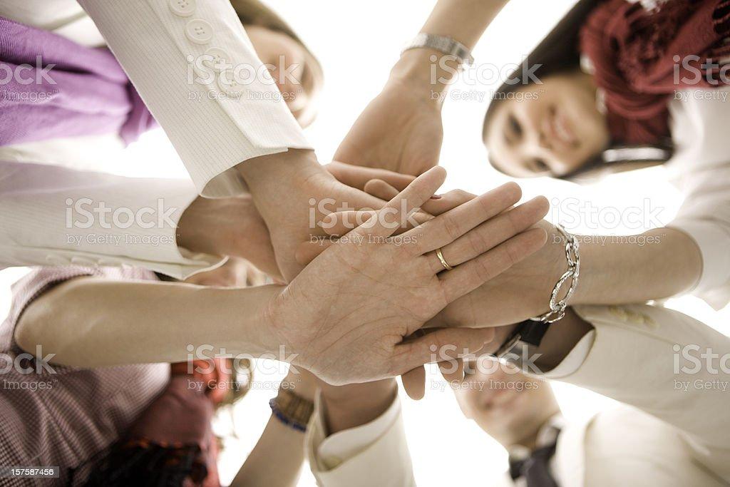 Business huddle royalty-free stock photo