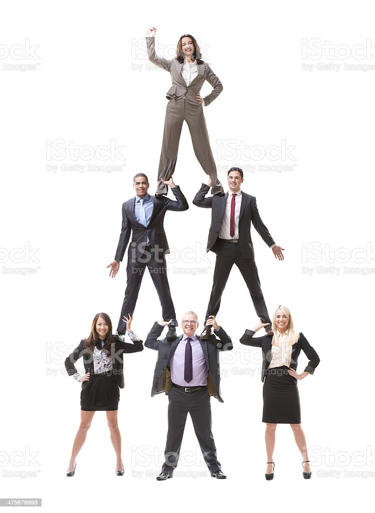 business human pyramid stock photo