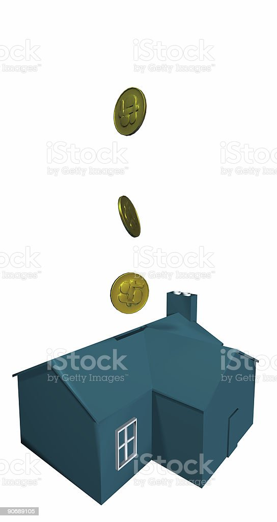 Business Icons - Home Investments - Isolated royalty-free stock photo