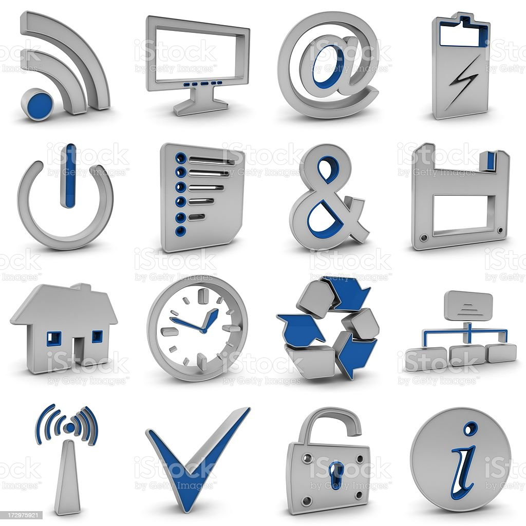Business Icons royalty-free stock photo