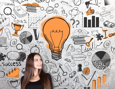 Concetto Di Business Idea - Fotografie stock e altre immagini di Adulto