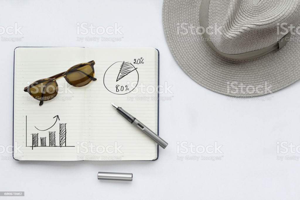 Business idea; The increase in profits and pareto 80/20 rule stock photo