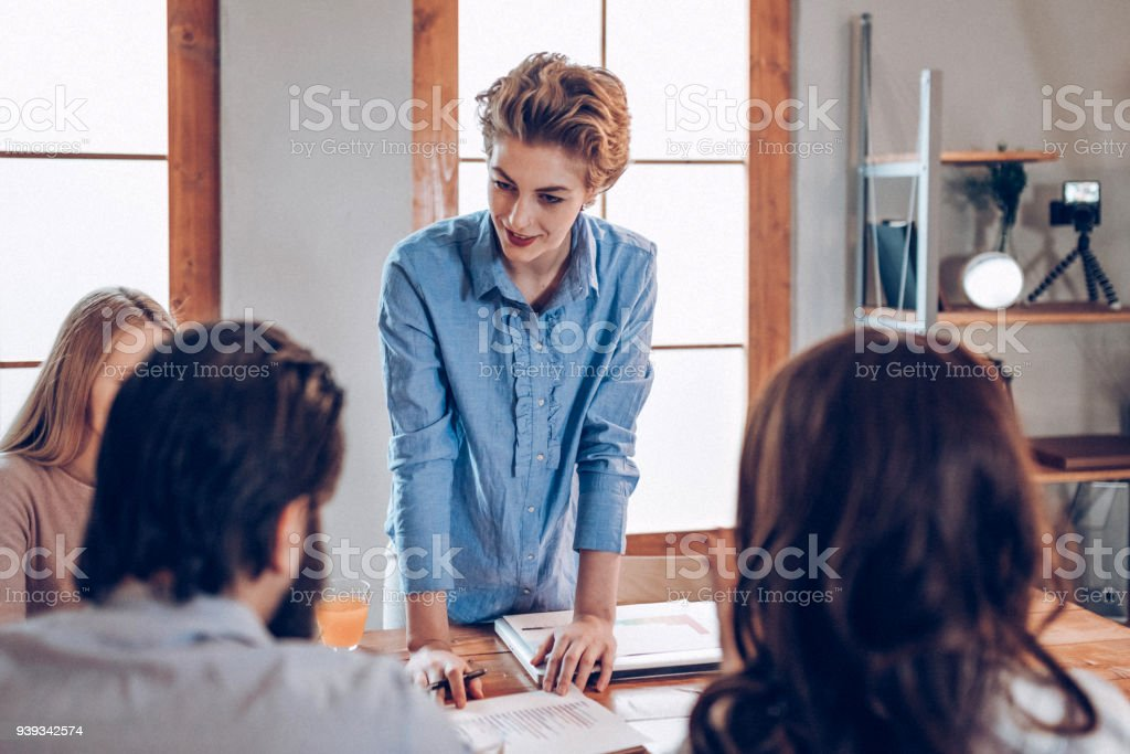 Business ideas is on the table stock photo