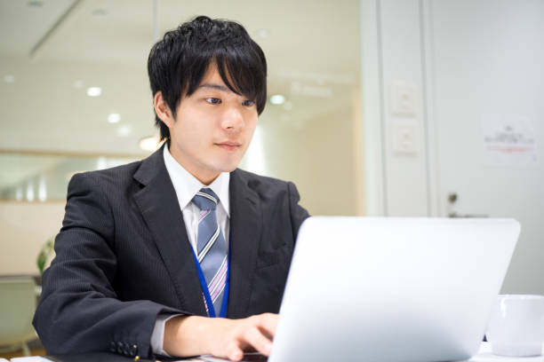 Business image (male · office · serious) It is Business image (male · office · serious). japanese ethnicity stock pictures, royalty-free photos & images