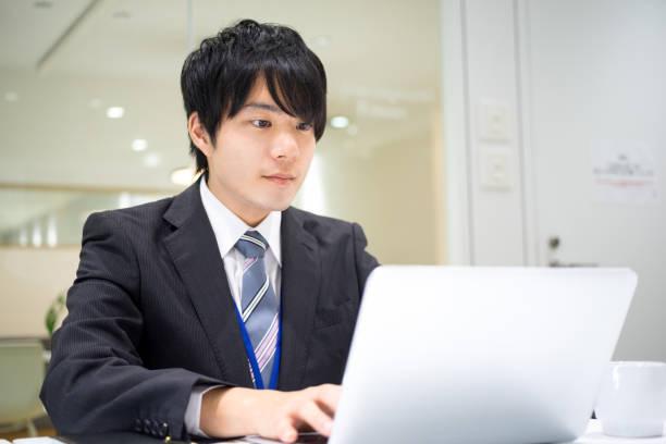 商業形象 (男性·辦公室·嚴肅) - 日本人 個照片及圖片檔