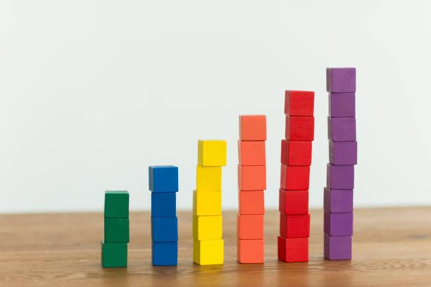 business image - diagramma a colonne foto e immagini stock