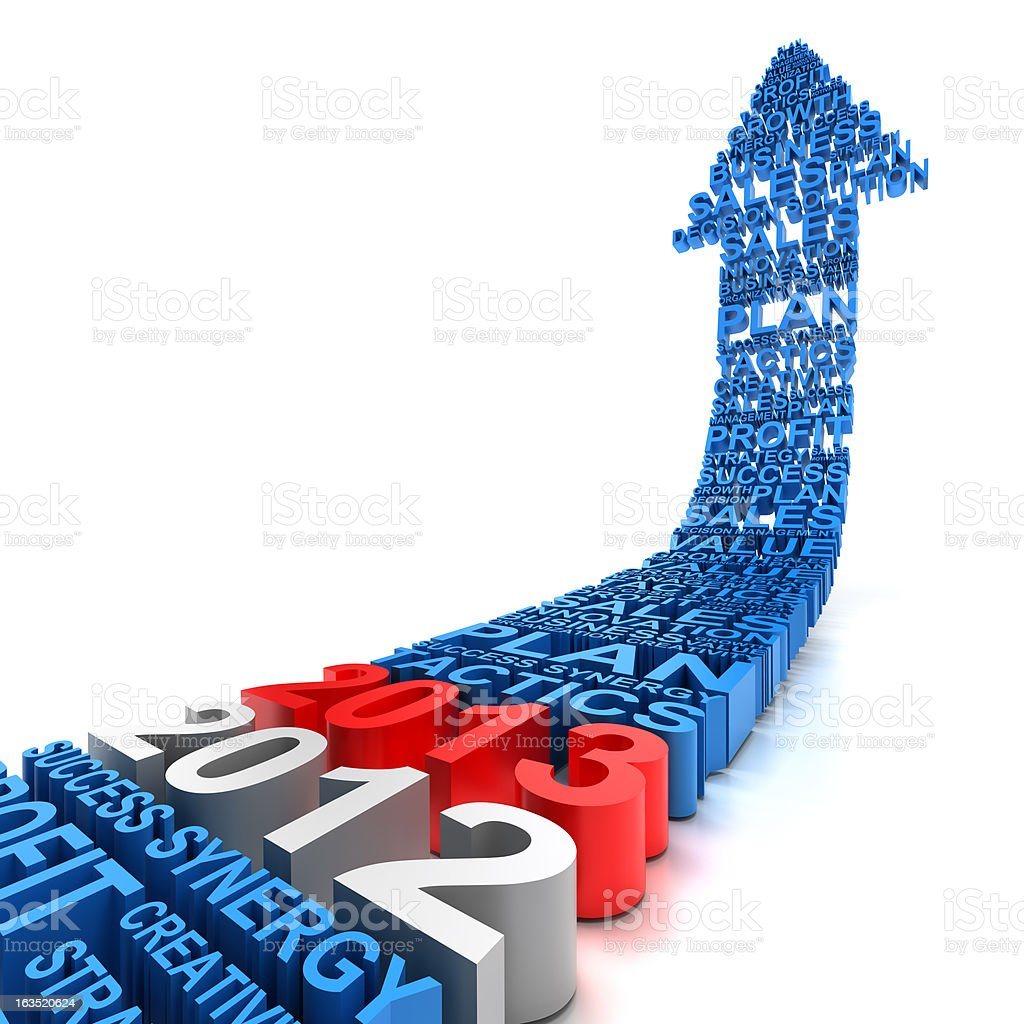 Business improvement in year 2013 royalty-free stock photo