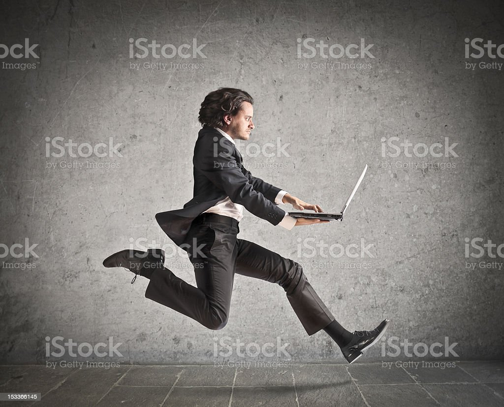 Business in action royalty-free stock photo