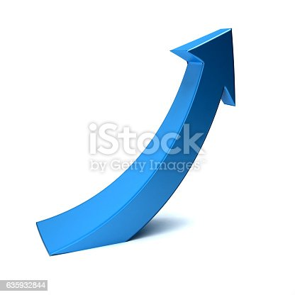 istock Business Index Arrow Up. 3D Render Illustration 635932844
