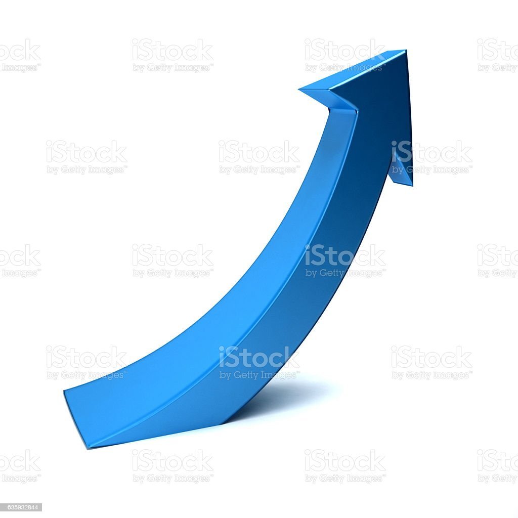 Business Index Arrow Up. 3D Render Illustration bildbanksfoto