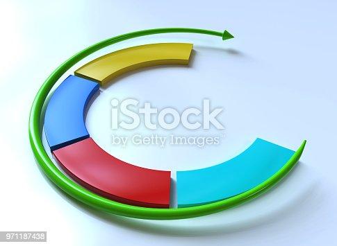 istock Business infographics. Circular arrow 971187438