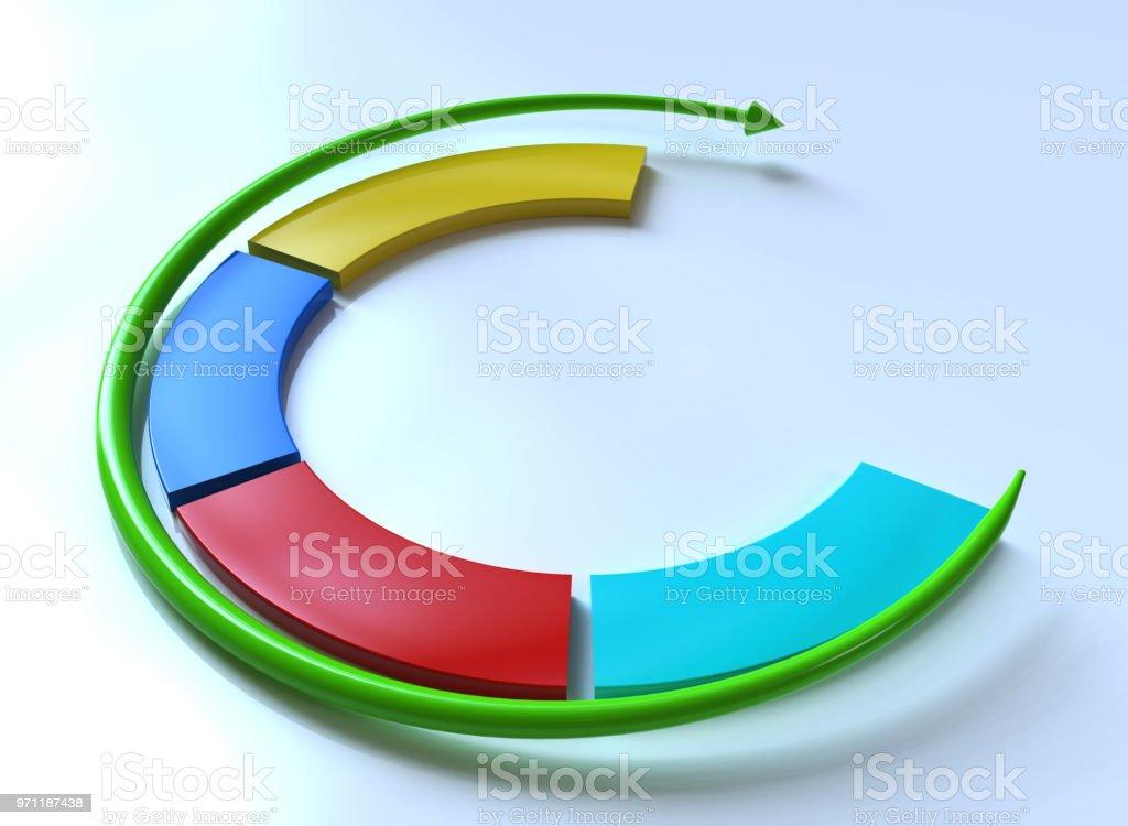 Business infographics. Circular arrow stock photo
