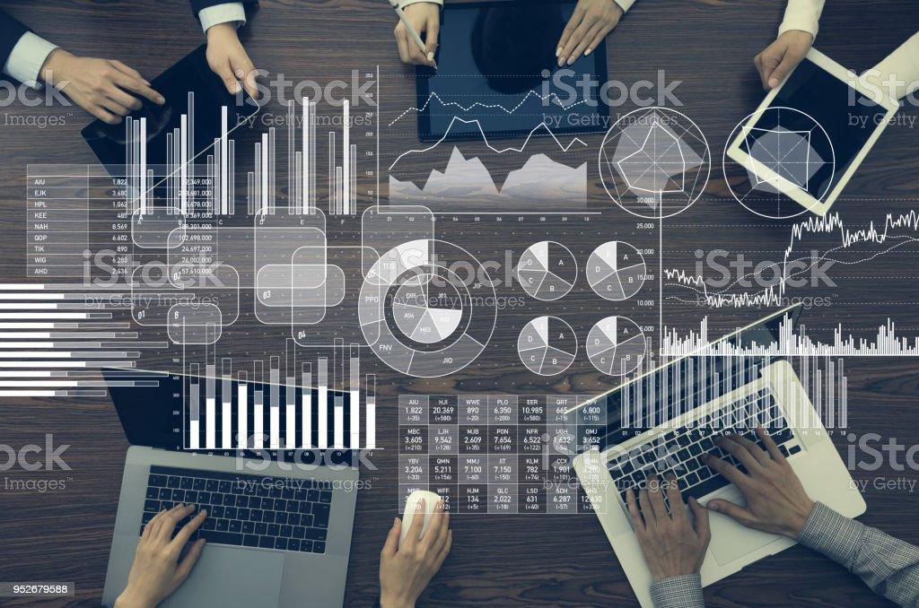 Концепция бизнес-информации и инфографики. - Стоковые фото Анализировать роялти-фри