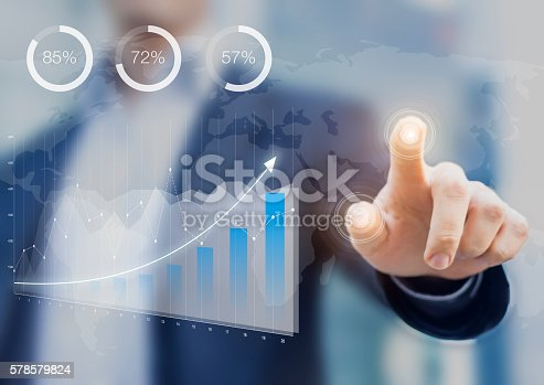 istock Business intelligence dashboard with key performance indicators 578579824