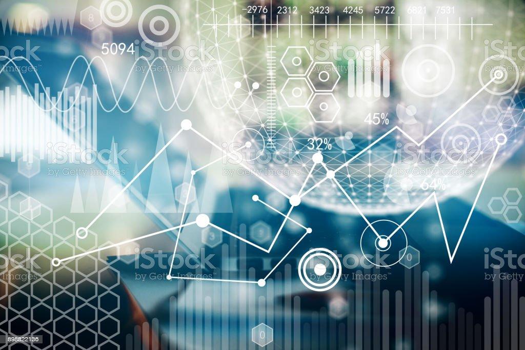 Business interface backdrop stock photo