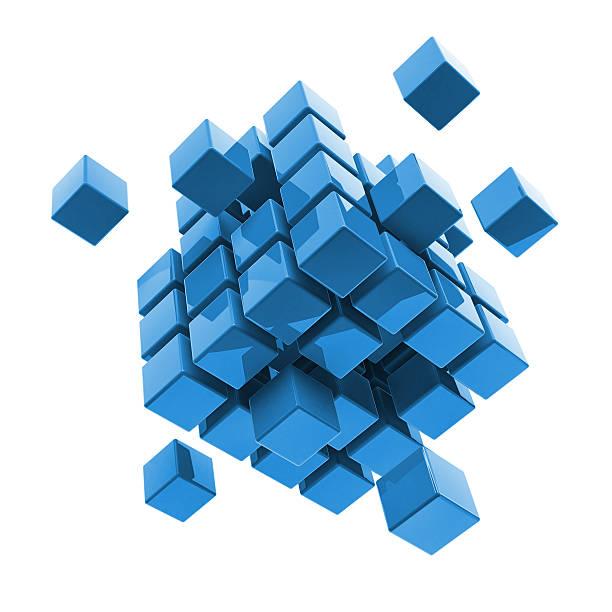Business, internet, communication concept block stock photo