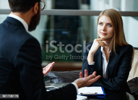 Interview, Job, Discussion, Women, Man, Talking,