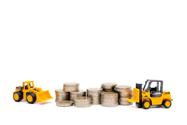 business investment - double exposure стоковые фото и изображения
