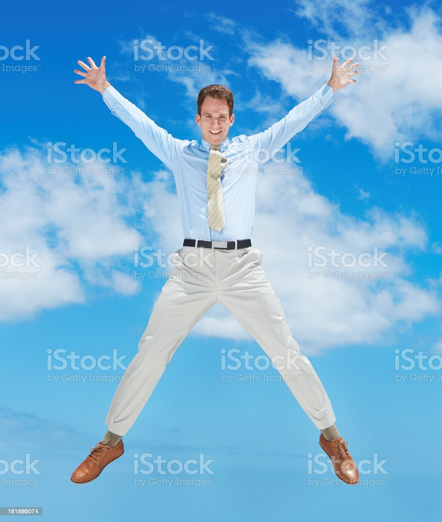 Business is going great! stock photo
