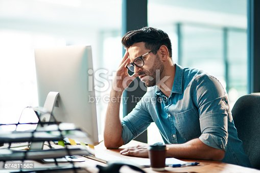 istock Business is putting him in a bad mood 874811562