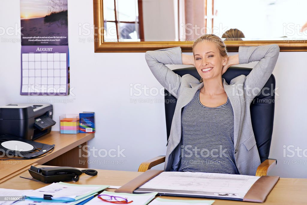 Business is really good! stock photo