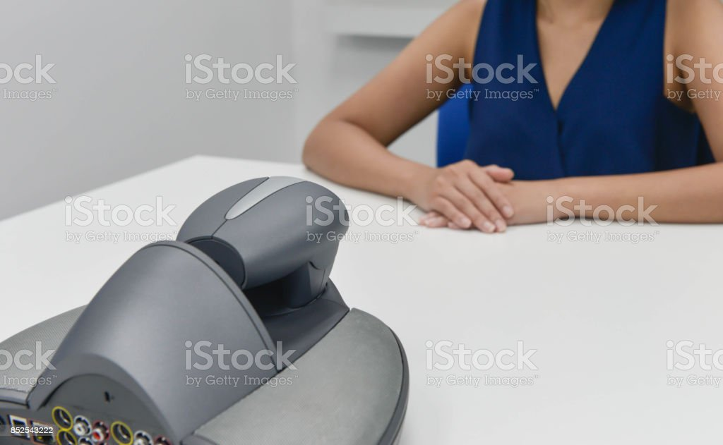 Business is using the  VDO IP conference device for the meeting stock photo