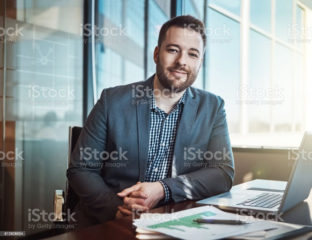 Business is what I was born for stock photo